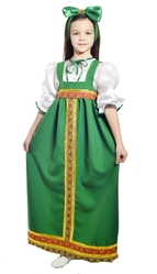 Русские народные - Детский костюм Барыни
