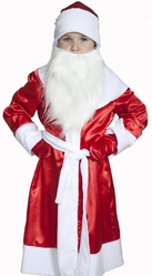 Дед Мороз - Детский костюм Деда Мороза атласный