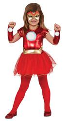 Супергерои и спасатели - Детский костюм девочки Железного человека