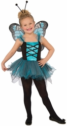 Пчелки и бабочки - Детский костюм голубой бабочки