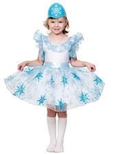 Снежинки - Детский костюм Голубой Снежинки