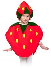 Фрукты и ягоды - Детский костюм Клубники
