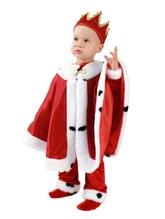 Цари - Детский костюм Короля красный