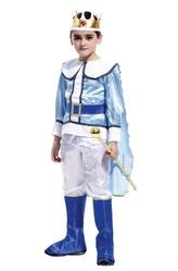 Цари - Детский костюм Короля в бело-голубом