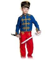 Гусары и Офицеры - Детский костюм красно-синего гусара