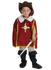 Мушкетеры - Детский костюм Красного Мушкетера
