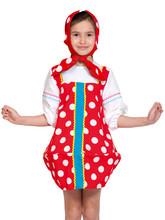 Детский костюм Красной Матрешки в горошек