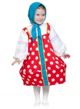 Русские народные - Детский костюм Красной Матрешки