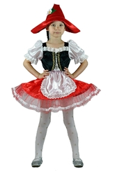 Красные шапочки - Детский костюм Красной Шапочки с ромашкой