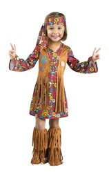 Ретро и Хиппи - Детский костюм маленькой хиппи