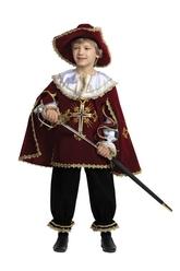Мушкетеры - Детский костюм мушкетера бордовый