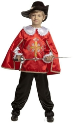 Мушкетеры - Детский костюм мушкетёра красный