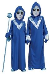 Страшные - Детский костюм пришельца синий