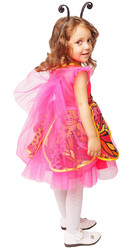 Пчелки и бабочки - Детский костюм розовой Бабочки