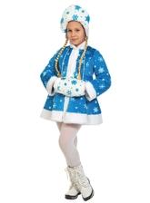 Снегурочки и Снежинки - Детский костюм Снегурочки со снежинками