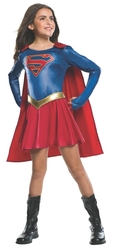 Супергерои и спасатели - Детский костюм Супергерл в плаще