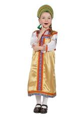 Русские народные - Детский костюм Василисы золотой
