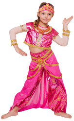 Арабские и восточные - Детский костюм Восточной принцессы в розовом