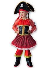 Пиратки - Детский красный костюм пиратки
