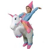 День смеха - Детский надувной костюм Единорога