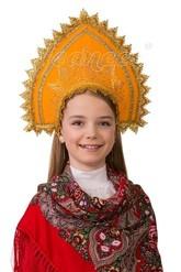 Русские народные - Детский оранжевый кокошник
