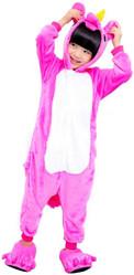 Кигуруми - Детский Ярко-розовый Единорог