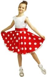 Ретро и Хиппи - Детское красно-белое платье стиляги