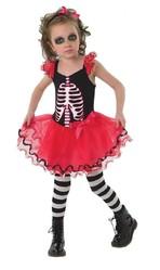 Страшные - Детское платье Скелетон