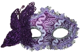 Венецианский карнавал - Фиолетовая маска с бабочкой