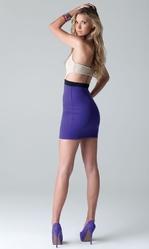 Клубные платья - Фиолетово-бежевое платье
