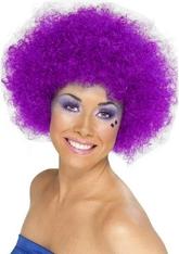 Женские костюмы - Фиолетовый парик клоуна