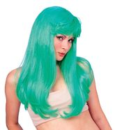 Сказочные персонажи - Гламурный зеленый парик