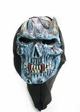 Карнавальные маски - Голубая маска демона с рожками