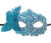Венецианский карнавал - Голубая маска с бабочкой