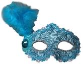 Венецианский карнавал - Голубая маска с пером