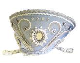 Женские костюмы - Голубой кокошник Княжна в серебре