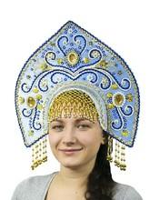 Женские костюмы - Голубой кокошник Купола