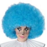 Клоунессы - Голубой кудрявый парик клоуна