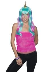 Единороги - Голубой парик единорога