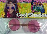 Аксессуары - Хипповые розовые очки
