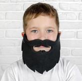 Борода и усы - Карнавальная черная