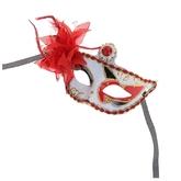 Венецианский карнавал - Карнавальная маска красно-белая