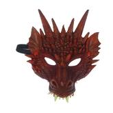 Дракон - Карнавальная маска красный Дракон