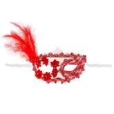 Венецианский карнавал - Карнавальная маска с пером