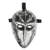 Исторические - Карнавальная маска Воин серебряная