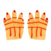 Перчатки и боа - Карнавальные перчатки Рука красная