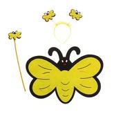 Крылья для костюма - Карнавальный набор Желтая бабочка