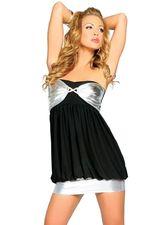 Go-Go костюмы - Клубное серебристо-черное платье 25