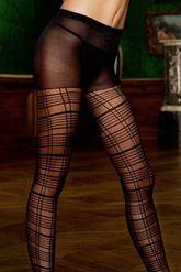 Чулки и колготки - Колготки черные с полосами