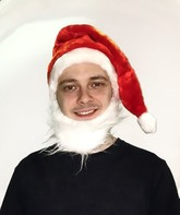 Новогодние костюмы - Колпак новогодний с бородой